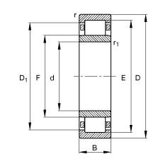 Bantalan NU2352-EX-TB-M1 FAG
