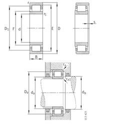 Bantalan NU2340-EX-M1 FAG