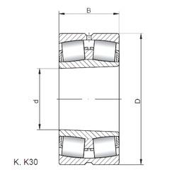 Bantalan 23072 KW33 ISO