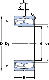 Bantalan 23048-2CS5K/VT143 SKF