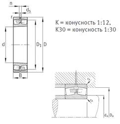 Bantalan 23072-K-MB FAG