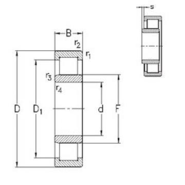 Bantalan NU232-E-M6 NKE