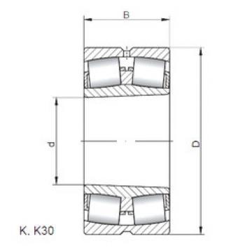 Bantalan 23064 KCW33 CX