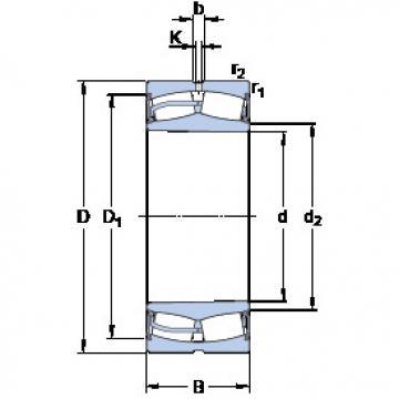 Bantalan 23044-2CS5K/VT143 SKF