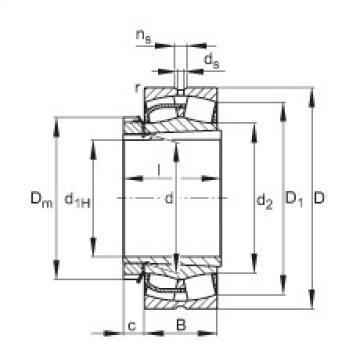 Bantalan 23052-E1-K + H3052X FAG
