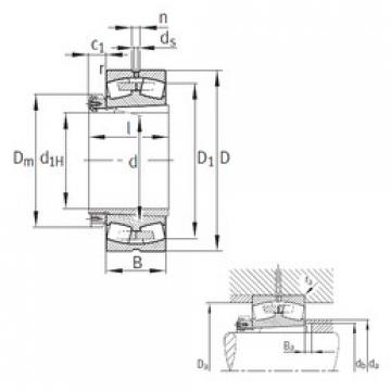 Bantalan 23072-K-MB+H3072 FAG