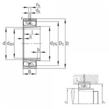 Bantalan 23064-K-MB+AH3064G FAG