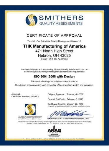 ISO 9001:2008 with design